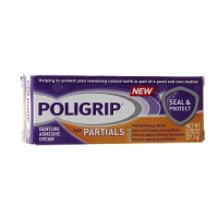 SUPER POLIGRIP Seal & Protect for Partials Denture Cream 0.75 oz [310158063247]