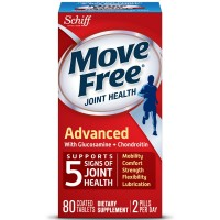 Move Free Triple Strength Glucosamine Chondroitin and Hyaluronic Acid Joint Supplement, 80 ct [020525118738]