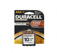 Duracell Coppertop AAA Alkaline Batteries 1.5 Volt 8 Each [041333844015]