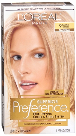 L'Oreal Superior Preference - 9 Natural Blonde (Natural) 1 Each [071249253243]