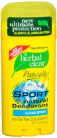 Herbal Clear Natural Deodorant Clear Sport 2.65 oz [740985229965]