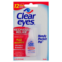 Clear Eyes Redness Relief Eye Drops Handy Pocket Pal 0.20 oz [678112254187]
