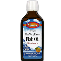 Carlson  The Very Finest Fish Oil Liquid Omega-3, Orange 6.7 oz [088395016509]