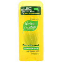 Herbal Clear Naturally Deodorant, Clear Aloe Fresh 2.65 oz [740985229958]